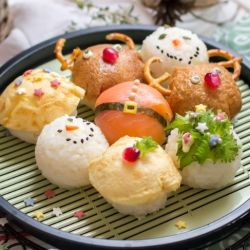 Maak met kerst je eigen sushi creaties