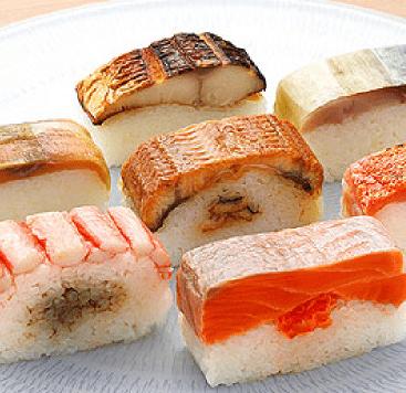 Verschillende soorten sushi