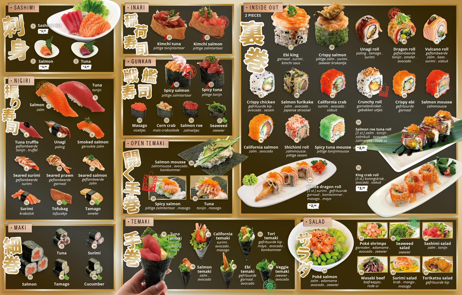 SHABU SHABU menukaart all you can taste diner